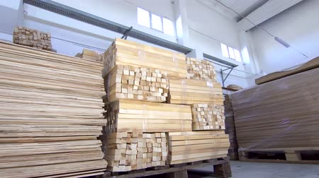 planking : wooden planks in stock dolly shot Stock Footage