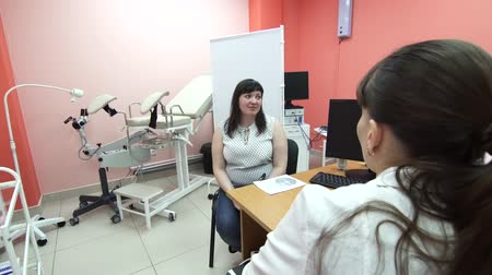 ginekologia : girl at a gynecologists reception, female pregnancy consultation