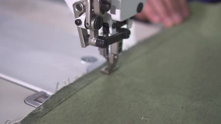 мастер на все руки : operation of the mechanism of the production sewing machine slow mo