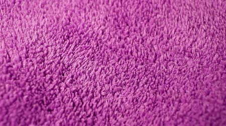 Pink Carpet fabric rotating pattern macro texture background backdrop footage video.