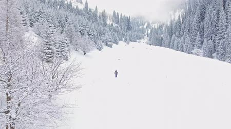 Aerial view timelapse footage people adventure at mountain Stock Footage