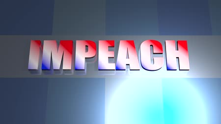 siyasi : Impeach seamless loop video background animated info graphic