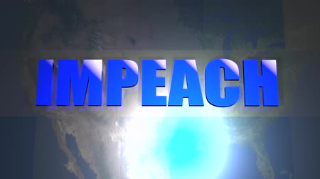 siyasi : Impeach Title News info graphic animated seamless video loop