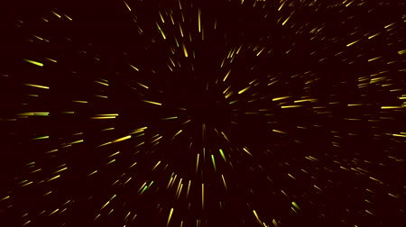 activacion : Hermoso movimiento destellar oro starburst sobre un fondo negro Archivo de Video