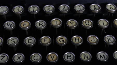 list : close up of old typewriter