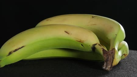 bananas on the black background Stok Video