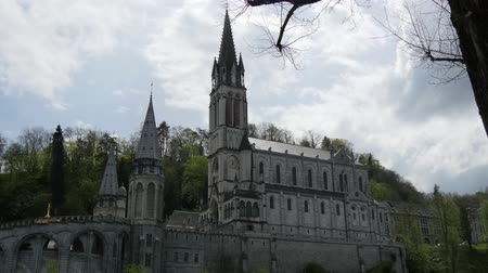 rosário : FRANCE, LOURDES. View of the cathedral in Lourdes, France Vídeos