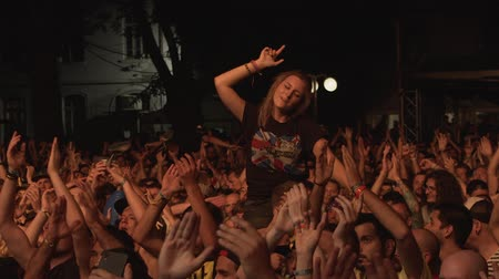 serseri : A girl enjoying a concert at the Punk Rock Holiday festival in Tolmin.
