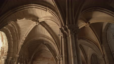 middle : The ceiling of an old medieval castle.