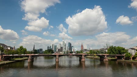 Франкфурт : Downtown Skyline in the city of Frankfurt Main