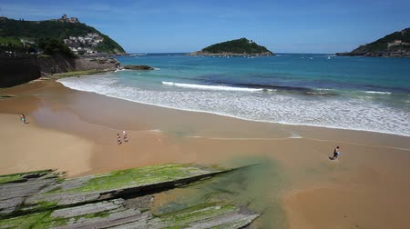 Beach in the city of San Sebastian, Basque country, Spain