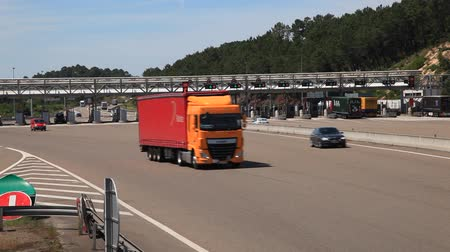 Toll gate on the highway in France
