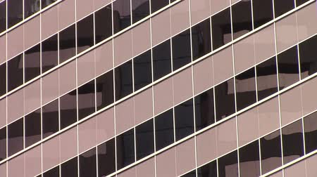 Looking up at a modern office buildings tinted windows downtown Phoenix, Arizona Dostupné videozáznamy