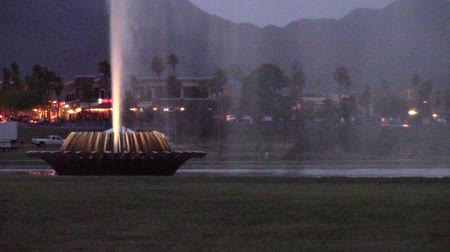 Closeup of the fountain in Fountain Hills park, Arizona which reaches a height of 330 ft.