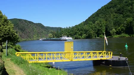 The Mosel River flows through Germany, France and Luxembourg and joins the Rhine river in Koblenz, Germany. It is a major route for commercial shipping and river cruises.