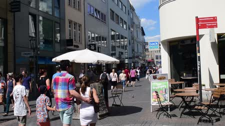 Koblenz, Germany - June 30, 2018:  The city is 2000 years old with many pedestrian malls such as the Loehr Center and Loehr shopping strip. Dostupné videozáznamy