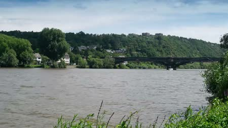 Mosel River timelapse. The Mosel River flows through Germany, France and Luxembourg and joins the Rhine river in Koblenz, Germany. It is a major route for commercial shipping and river cruises.