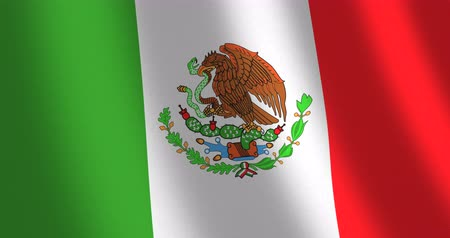 mexicaans : Vlag Mexico bewegende wind