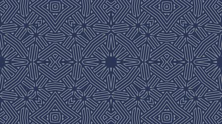 kalejdoskop : Kaleidoscope seamless loop sequence mandala patterns abstract multicolored motion graphics background. Ideal for yoga, clubs, shows Wideo