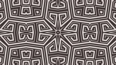 dekoracje : Kaleidoscope seamless loop sequence mandala patterns abstract multicolored motion graphics background. Ideal for yoga, clubs, shows Wideo