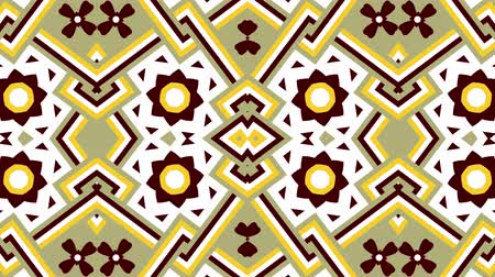 illúzió : Kaleidoscope seamless loop sequence mandala patterns abstract multicolored motion graphics background. Ideal for yoga, clubs, shows Stock mozgókép