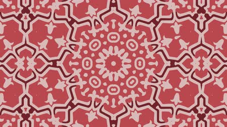 botanik : Kaleidoscope seamless loop sequence mandala patterns abstract multicolored motion graphics background. Ideal for yoga, clubs, shows Stok Video
