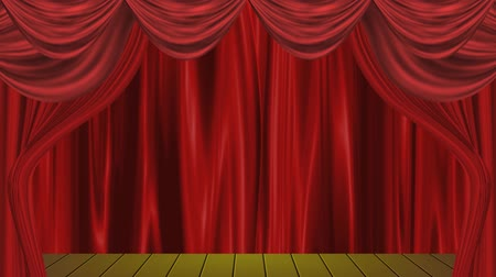 perdeler : open curtain design Stok Video