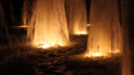 fountain with light