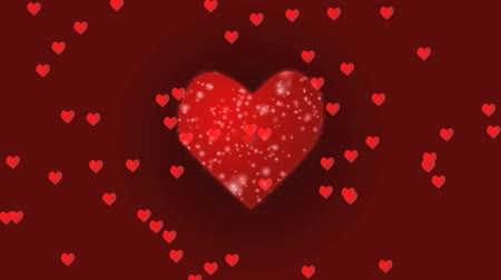 lovely heart design Stock Footage