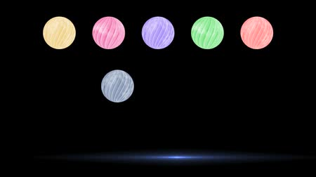 ball spin with light glow design Stock Footage