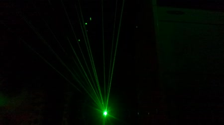 балки : laser beam show, 50sec, a club in Seoul, Korea, mute, no sound