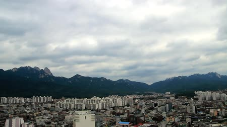 gloomy sky : city, mountain and sky which cloud passed fast 27x - edited, Seoul, Korea