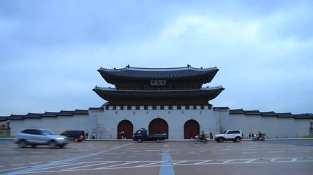 korejština : the front view of Gwanghwamun, cultural properties, Seoul, Korea