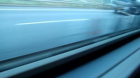 řídit : road car automobile drive side median strip wall view, fast moving, Korea Dostupné videozáznamy