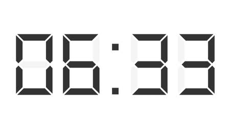 minuto : digital clock full 24h time-lapse Vídeos