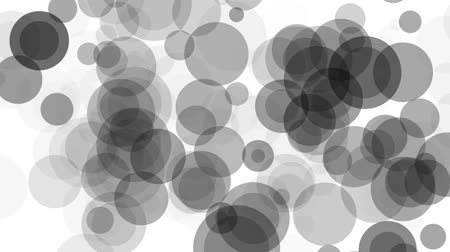 szürkeárnyalatos : circles in slow motion - abstract animated background Stock mozgókép