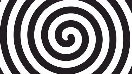 estalo : spiral optical illusion - rotating 4k 30fps background - black white, seamlessly looped