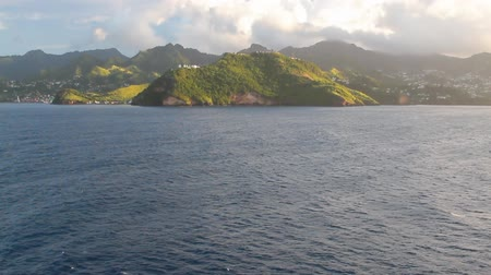 Coast of tropical island. Clare Valley, Saint Vincent and Grenadines Stock mozgókép