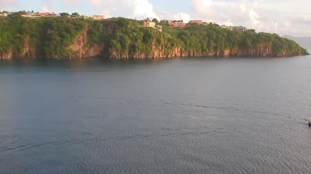 alanlar : Gulf and coast of tropical island. Kingstown, Saint Vincent and Grenadines