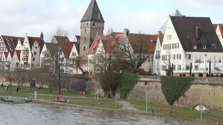 historical germany : Spread Danube, embankment and city. Ulm, Baden-Wruttemberg, Germany