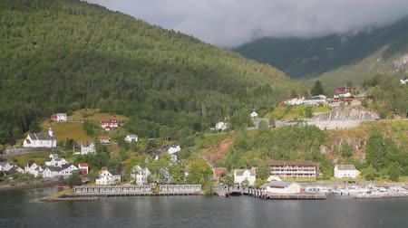 geiranger : Port, mooring and settlement ashore. Hellesylt, Norway