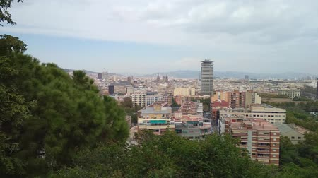 каталонский : Top view on city. Barcelona, ??Spain