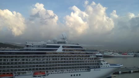 balear : Palma-de-Mallorca, Spain - Oct 02, 2018: Cruise liner on parking in port