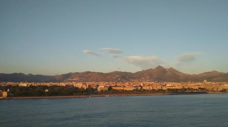 Сицилия : City and sea coast. Palermo, Italy