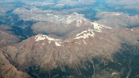 avusturya : Aerial photograph, snow-covered mountain tops in summer. Austria