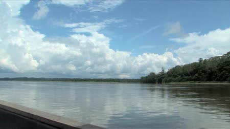 amazonka : Boating Rio Napo River in the Ecuadorian Amazon Wideo