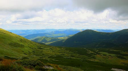 карпатская : view from the top of Carpathian Mountains