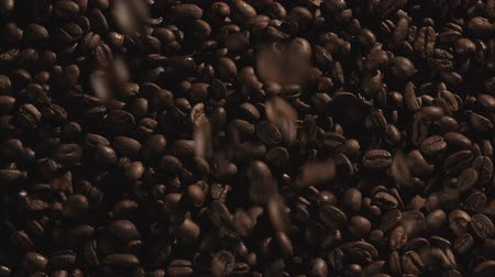 damlatma : Coffee Beans falling in slow motion