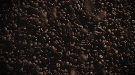 black coffee : Coffee Beans falling in slow motion