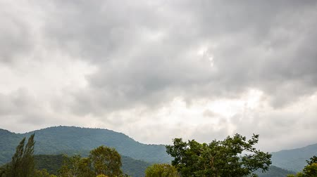 Time Lapse, Rain clouds over the mountains Thailand.